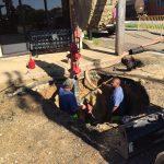Replacing hydrant in Pela